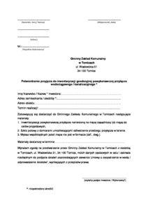 Potwierdzenie przyjęcia do inwentaryzacji geodezyjnej powykonawczej przyłącza wodociągowego _ kanalizacyjnego